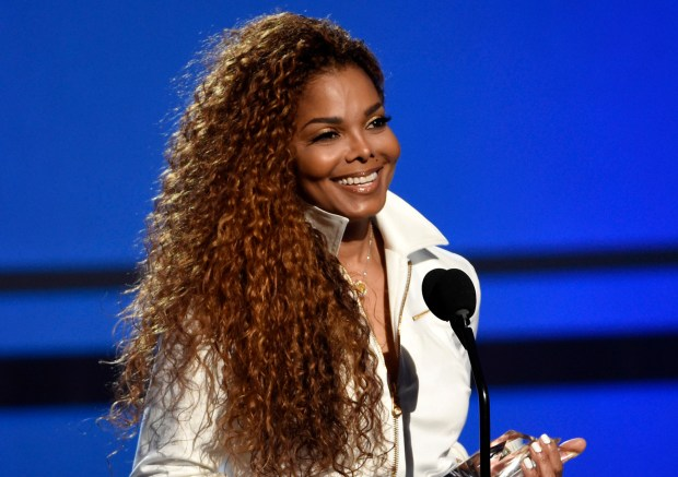 FILE - In this June 28, 2015, file photo, Janet Jackson accepts the ultimate icon: music dance visual award at the BET Awards in Los Angeles. The 50-year-old pop superstar and her husband Wissam Al Mana welcomed their son, Eissa Al Mana, on Tuesday, Jan. 3, 2017, a representative for the singer confirmed. (Photo by Chris Pizzello/Invision/AP, File)
