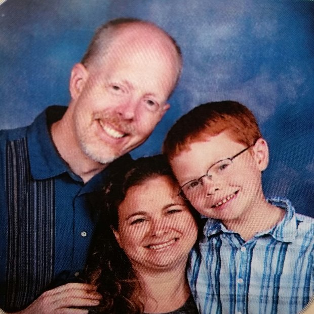 From left to right, Los Gatos residents Gary Claassen, Polly Claassen and their 8-year-old son Trent pose for a recent holiday-card photo. Polly Claassen and Trent died Jan. 6, 2017 when they fell through a frozen pond in Moundridge, Kansas while on a family vacation.