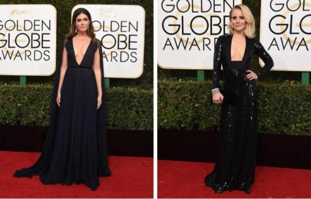 Mandy Moore vs. Kristen Bell (Valerie Macon/AFP/Getty Images)