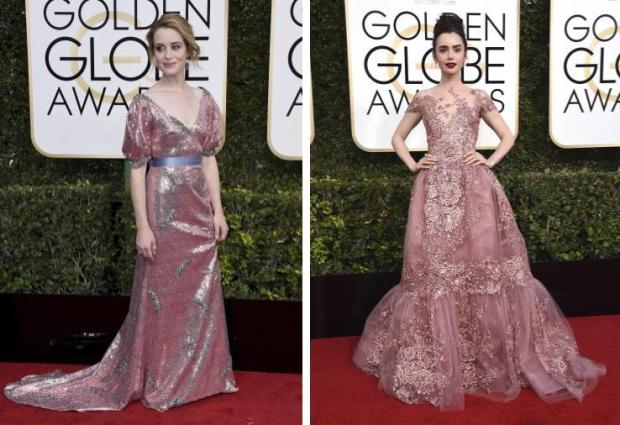 Claire Foy vs. Lily Collins (Jordan Strauss/Invision/AP)