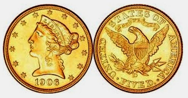 An early 20th-century gold piece can be worth much more than its face valuetoday. (Wikimedia Commons)