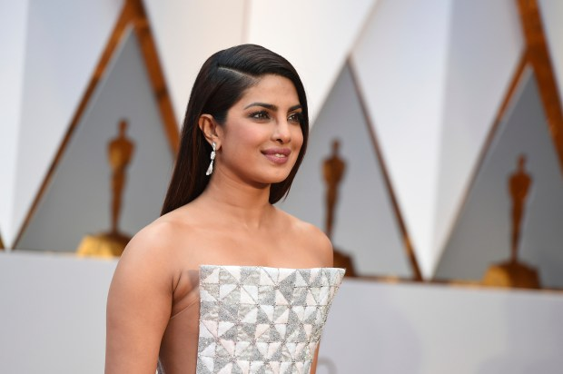Priyanka Chopra arrives at the Oscars on Sunday, Feb. 26, 2017, at the Dolby Theatre in Los Angeles. (Photo by Jordan Strauss/Invision/AP)