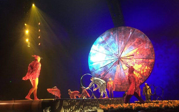 "A scene from ""Luzia,"" the new show from Cirque du Soleil that opened in San Jose on Thursday, Feb. 9, 2017. (Sal Pizarro/Staff)"