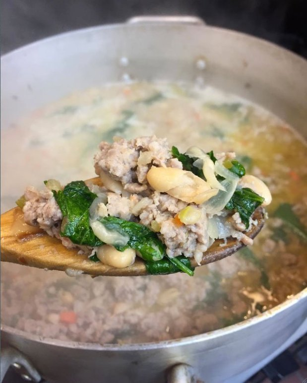 One of Culinary Courier's most requested soups is the White Bean, Kale andSausage, now available in frozen to-go pints.