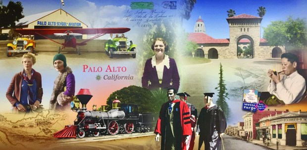 Wells Fargo unveiled a community mural honoring Palo Alto's history and diversity at a grand opening celebration on Monday, Feb. 6, 2017, of a branch at 2754 Middlefield Road. (Wells Fargo photo)