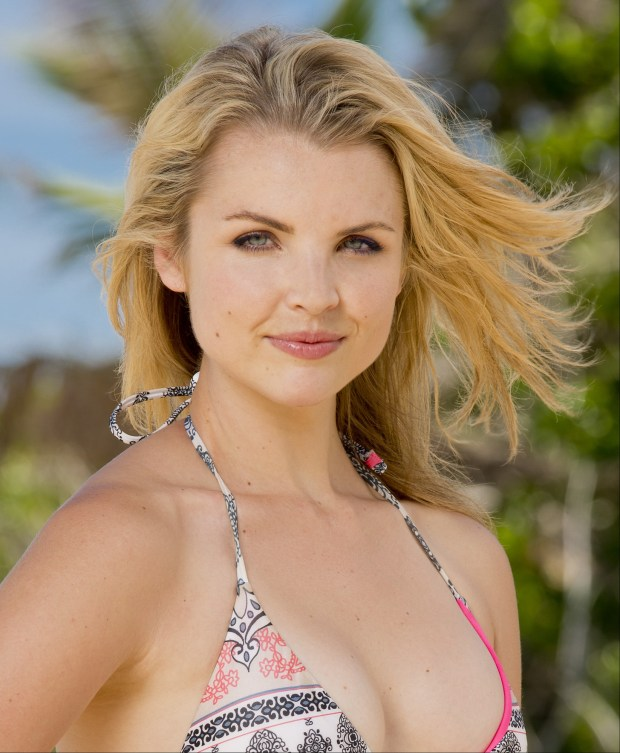 Andrea Boehlke, 27, from New York, New York. She was on season 22: Redemption Island, finished fifth and was a member of the jury. On season 26: Caramoan she finished seventh and was a member of the jury. (Robert Voets/CBS)