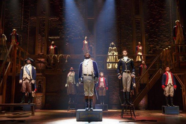 "The national touring company of ""Hamilton"" in San Francisco."