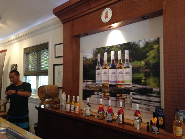The Koloa Rum tasting room in Kauai welcomes visitors with flights ofwhite, gold, dark and spiced rum tastes. (Jackie Burrell/Bay Area News Group)