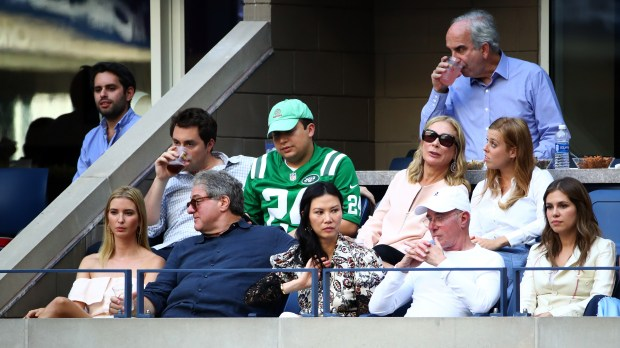 NEW YORK, NY - SEPTEMBER 11: (L-R) Business people Ivanka Trump, Guest, Wendi Deng Murdoch and David Geffen and Princess Beatrice (back row - right) attend the Men's Singles Final Match between Novak Djokovic of Serbia and Stan Wawrinka of Switzerland on Day Fourteen of the 2016 US Open at the USTA Billie Jean King National Tennis Center on September 11, 2016 in the Flushing neighborhood of the Queens borough of New York City.. (Photo by Michael Heiman/Getty Images)
