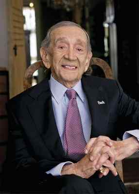 "This 2014 photo provided by The Wonderful Company shows Jack Harris in Los Angeles. Harris, who cemented his place in Hollywood history by producing the 1958 horror film ""The Blob,"" has died. He was 98. Harris died of natural causes Tuesday, March 14, 2017, at his home in Beverly Hills surrounded by family, according to his daughter, Lynda Resnick. (RICH PRUGH — THE WONDERFUL COMPANY VIA THE ASSOCIATED PRESS)"