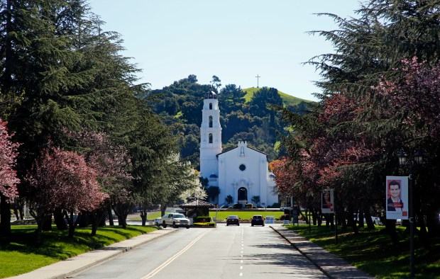The Saint Mary's campus is photographed in Moraga, Calif., on Tuesday, March 14, 2017. (Laura A. Oda/Bay Area News Group)