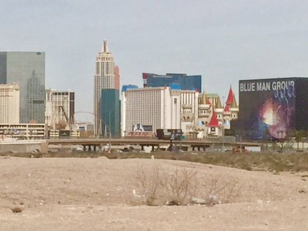 Mark Davis wants to build a new $1.9 billion stadium on a 63-acre parcel ofdirt across from the southern end of the Las Vegas Strip. The site will need road work and parking to make it viable. (Photo: Elliott Almond/Bay Area News Group)