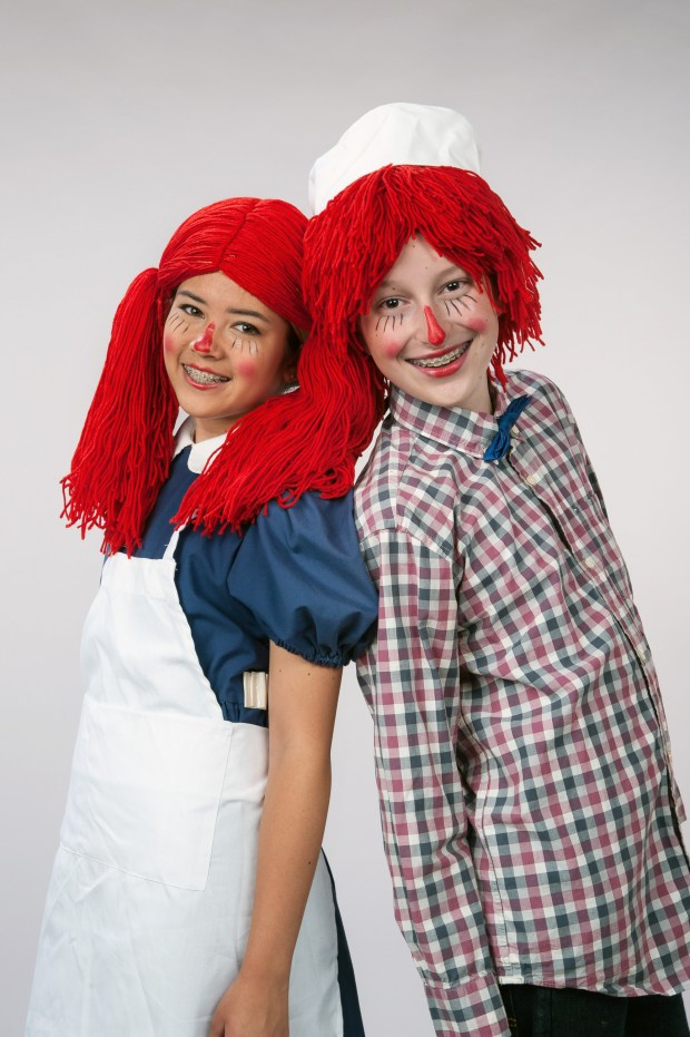 "Ali Matsumoto, left, and Michael DeLaurier in Peninsula Youth Theatre's production of ""Raggedy Ann and Andy,"" running March 24 and 25, 2017, at the Mountain View Center for the Performing Arts Second Stage. (Lyn Flaim Healy, Spotlight Moments Photography)"