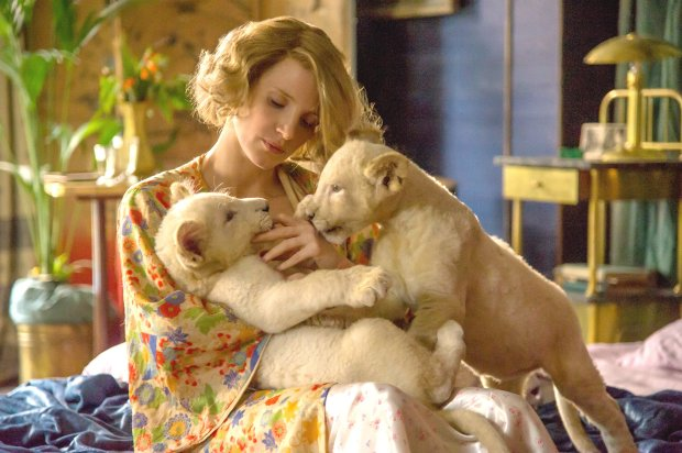 "Jessica Chastain stars in ""The Zookeeper's Wife,"" opening March 31. (AnneMarie Fox/Focus Features)"