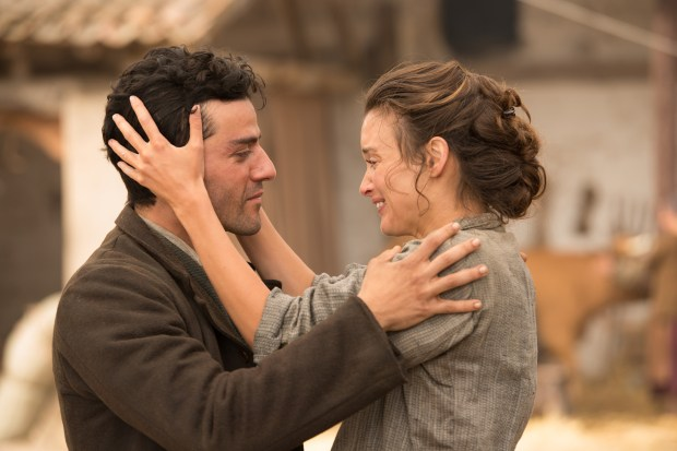 Oscar Isaac as Mikael Boghosian and Charlotte Le Bon as Ana Khesarian in a scene from 'The Promise.' (Open Road Films)