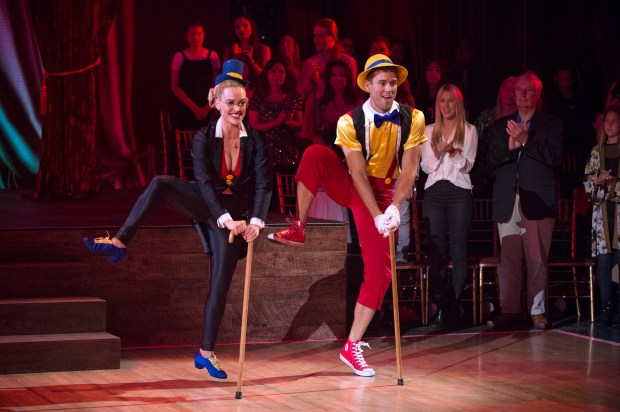 """Peta Murgatroyd and Nick Viall compete during """"Disney Night"""" on """"Dancing with the Stars,"""" Monday, April 17, 2017. (ABC)"""