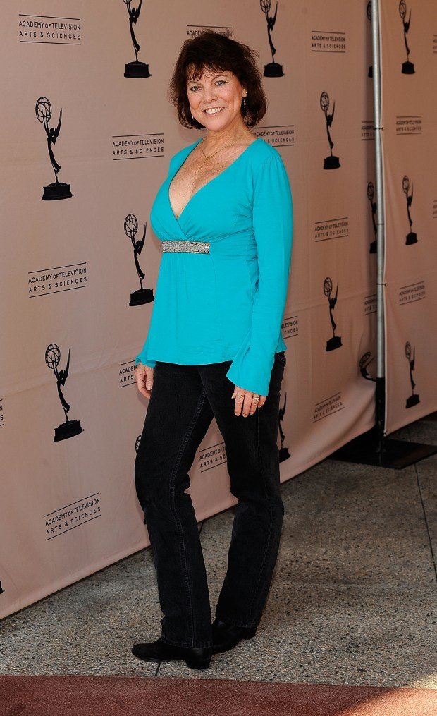 "Actress Erin Moran arrives at the Academy Of Television Arts & Sciences' ""Father's Day Salute To TV Dads"" on June 18, 2009 in North Hollywood, California. (Photo by Frazer Harrison/Getty Images)"