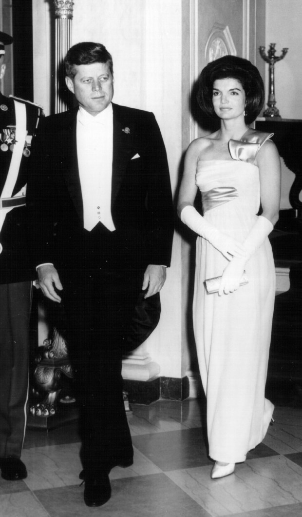 381257 19: President John F. Kennedy and First Lady Jackie Kennedy attend a White House Ceremony January 21, 1963 in Washington, DC. (Photo by National Archive/Newsmakers)