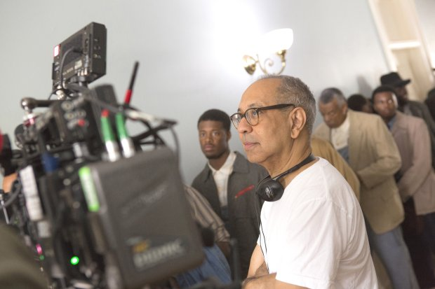 "Director George C. Wolfe on the set of ""The Immortal Life of HenriettaLacks.""(Quantrell Colbert/HBO)"