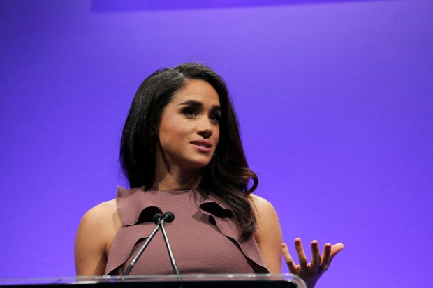 """CHICAGO, IL - MAY 05: Meghan Markle star of USA Network's orginal drama """"Suits"""" hosts the 2015 Women in Cable Telecommunications Signature Luncheon at McCormick Place on May 5, 2015 in Chicago, Illinois. (Photo by Tasos Katopodis/Getty Images for WICT)"""