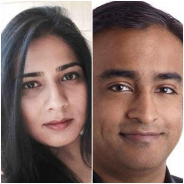 Courrtesy Neha Rastogi - Pictured are Neha Rastogi and her husband Abhishek Gattani. Rastogi decries as too lenient the pending plea deal given to her husband by the Santa Clara County District Attorney's Office to resolve a second domestic violence-related charge against him.