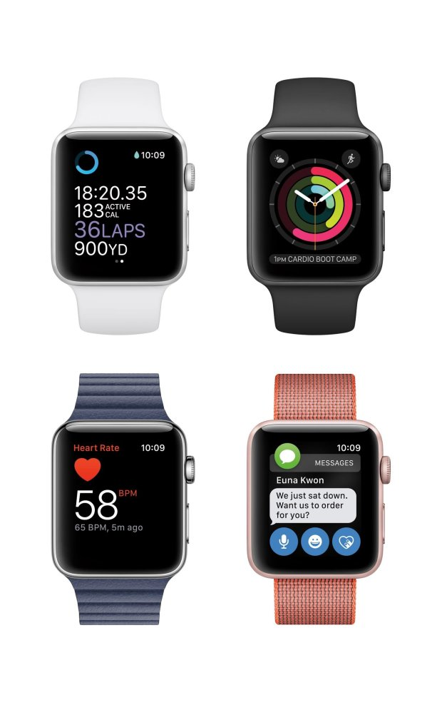 The Apple Watch Series 2 (courtesy of Apple).