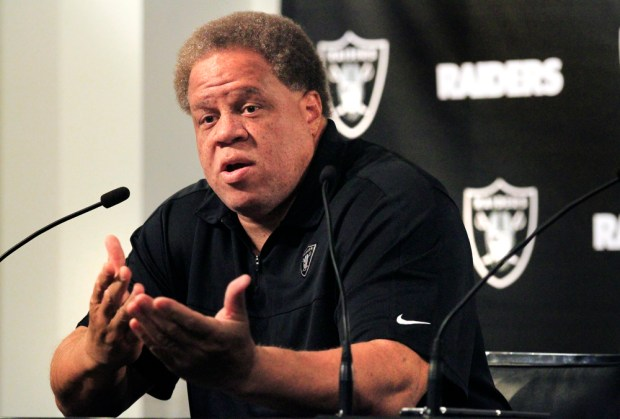 Raiders general manager Reggie McKenzie. (Laura A. Oda/Bay Area News Group)