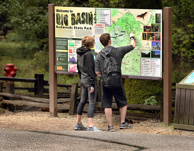 Big Basin Redwoods State Park is the oldest in the state, drawing visitors from across the nation and around the world. (Dan Coyro -- Santa Cruz Sentinel)