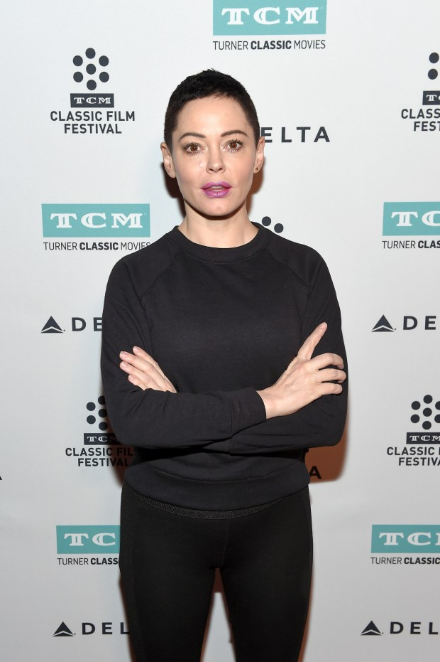 Actor Rose McGowan on April 9, 2017 in Los Angeles, California. (Photo by Matt Winkelmeyer/Getty Images for TCM)