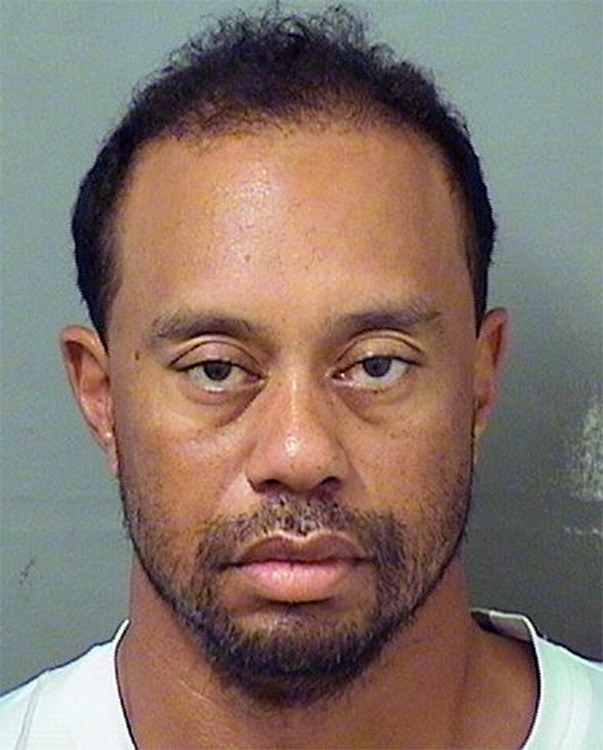 In this handout photo provided by The Palm Beach County Sheriff's Office, golfer Tiger Woods is seen in a police booking photo after his arrest on suspicion of driving under the influence (DUI) May 29, 2017 in Jupiter, Florida. Woods has been released on his own recognizance. (Photo by The Palm Beach County Sheriff's Office via Getty Images)