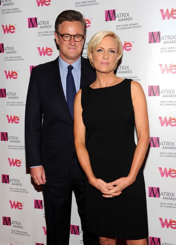 "MSNBC's ""Morning Joe"" co-hosts Joe Scarborough and Mika Brzezinski in 2013. (Photo by Evan Agostini/Invision/AP, File)"