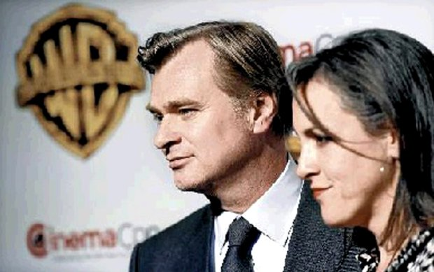 """Christopher Nolan, director of """"Dunkirk,"""" with Emma Thomas, the film's producer (who is also his wife). (Chris Pizzello/Invision/AP/file)"""