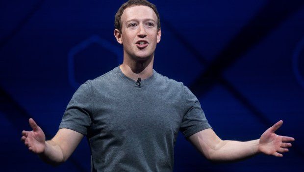 FILE - In this April 18, 2017 file photo, Facebook CEO Mark Zuckerberg speaks at his company's annual F8 developer conference in San Jose, Calif. An Ohio family that hosted Zuckerberg for dinner says he made it clear he wasn't planning to run for president in 2020. Zuckerberg dined Friday, April 28, at the Moore family home in Newton Falls, Ohio, during his mission to visit all 50 states. (AP Photo/Noah Berger, File)