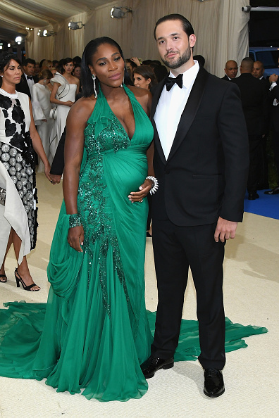 "NEW YORK, NY - MAY 01: Serena Williams and Alexis Ohanian attend the ""Rei Kawakubo/Comme des Garcons: Art Of The In-Between"" Costume Institute Gala at Metropolitan Museum of Art on May 1, 2017 in New York City. (Photo by Dia Dipasupil/Getty Images For Entertainment Weekly)"