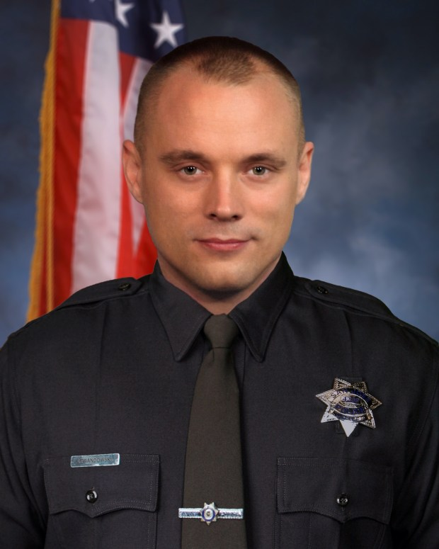 Michael Lewandowski, 37, a San Jose police officer and decorated Army veteran who earned the Bronze Star Medal, died May 14, 2017 after a long bout with lung cancer.