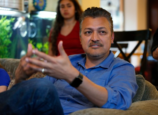 Enrique Diaz talks about his family at his home in Gilroy, Calif., on Wednesday, May 10, 2017. (Nhat V. Meyer/Bay Area News Group)