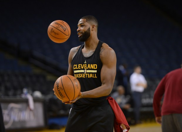 The Cleveland Cavaliers' Tristan Thompson (13) photographed during a workout at media day for the NBA Finals at Oracle Arena in Oakland, Calif., on Wednesday, May 31, 2017. The NBA Finals between the Golden State Warriors and the Cleveland Cavaliers begins tomorrow. (Dan Honda/Bay Area News Group)