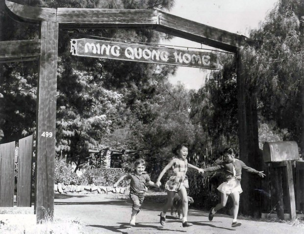 Photograph courtesy New Museum Los GatosThis old photograph shows the entrance to the Ming Quong Home n Los Gatos whenit was still an orphanage. Although Ming Quong started out as a haven for Chinese girls, children from other races and boys were admitted beginning in 1953.