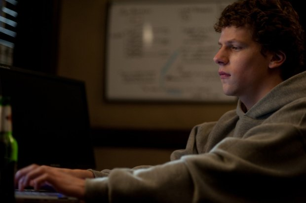 "Jesse Eisenberg as Mark Zuckerberg in ""The Social Network"" (Photo by Merrick Morton (Columbia TriStar)"