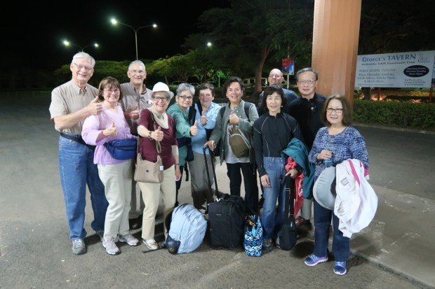 Rotary Club members with Anne and Jon Cross on their January trip to Tanzania.