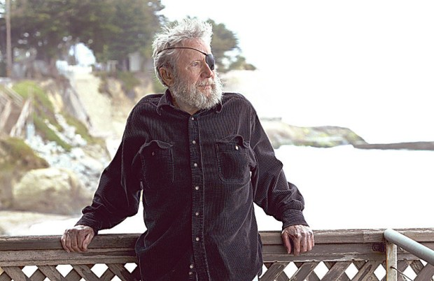 Jack O'Neill on the deck of his Pleasure Point home in 2006. (Photo by Dan Coyro, Santa Cruz Sentinel)