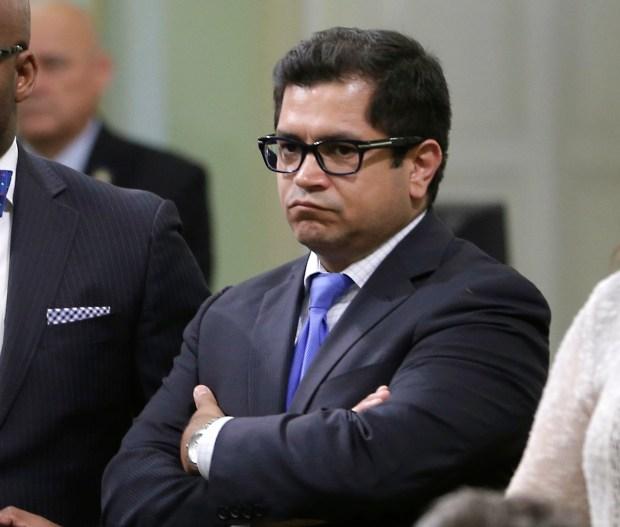 Jimmy Gomez, D-Los Angeles, in 2014. (AP Photo/Rich Pedroncelli, file)