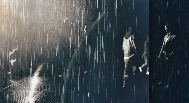"Through the photo editing app Snapseed, I blended photographs of the ""Rain Room"" at the LACMA. (Queenie Wong/Bay Area News Group)"