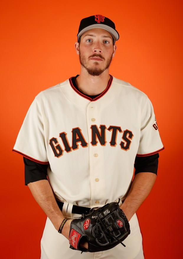 SCOTTSDALE, AZ - FEBRUARY 27: Pitcher Nik Turley #76 of the San Francisco Giants poses for a portrait during spring training photo day at Scottsdale Stadium on February 27, 2015 in Scottsdale, Arizona. (Photo by Christian Petersen/Getty Images)