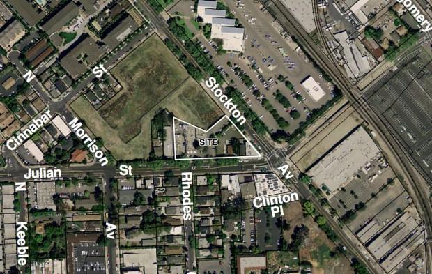 Courtesy San Jose Planning Division/2017Aerial map of 715 W. Julian Street property in San Jose, Calif.