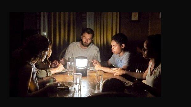 "Riley Keough, left, Christopher Abbott, Joel Edgerton, Kelvin Harrison Jr., Carmen Ejogo and Griffin Robert Faulkner in ""It Comes at Night."" (Eric McNatt/A24)"