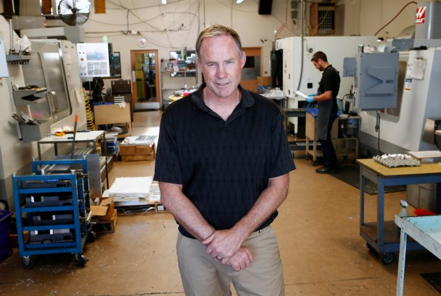 Frank Lux, CEO of Lux Manufacturing, is photographed in his machine shop in Sunnyvale, California, on Tuesday, June 27, 2017. Lux has not been a supporter of the Affordable Care Act which he says has increased his healthcare costs to insure himself and his employees. (Gary Reyes/ Bay Area News Group)