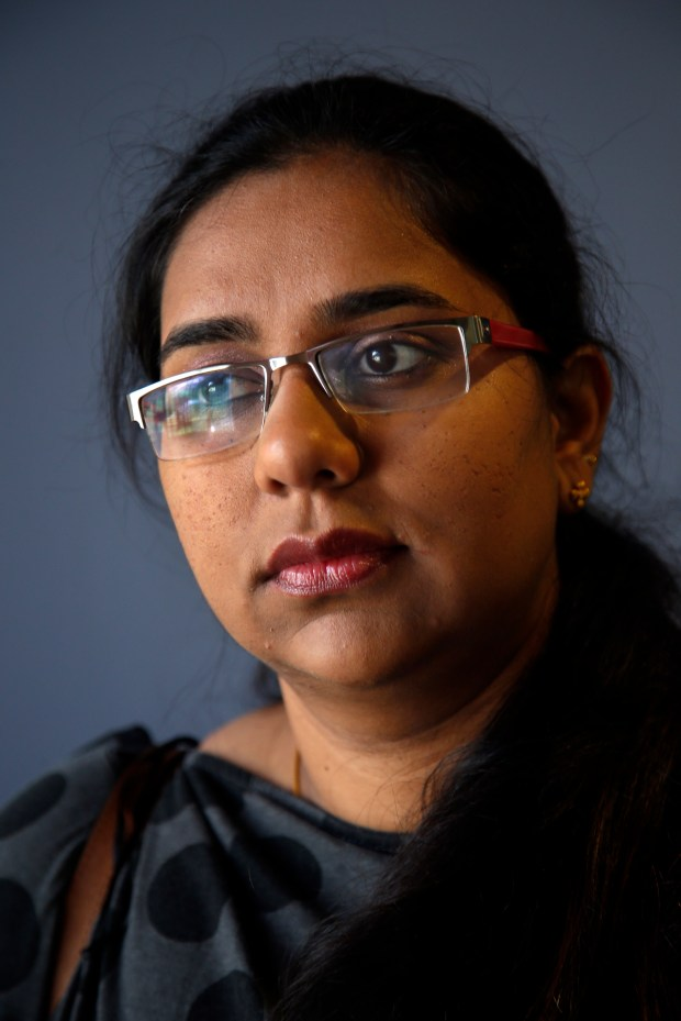 Shraddha Lanka, a native of India, visits the University of San Francisco campus where she was a graduate student, Monday, June 12, 2017, in San Francisco, California. American schools are reporting a drop in international student applications. (Karl Mondon/Bay Area News Group)