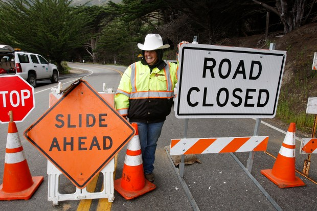 Caltran Traffic Map.Map Highway 1 In Big Sur Closed Under Caltrans Storm Plan