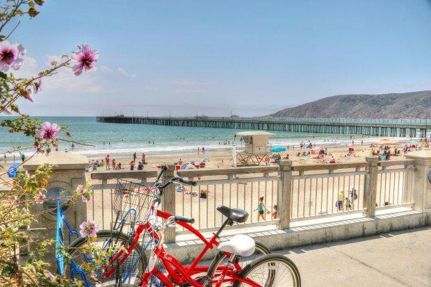 The boardwalk at Avila Beach offers beachy pleasures, cozy bistros and wine-tasting rooms, too. (VisitAvilaBeach.com)